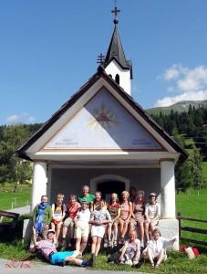 Groepsfoto van de mensen ogencursus Eye-Tools in Oostenrijk 2012a . Ogenschool Eye-Tools ogencursus en vakantie in de zomer.